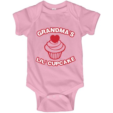 Gradma's Little Cupcake Infant Rabbit Skins Lap Shoulder Creeper