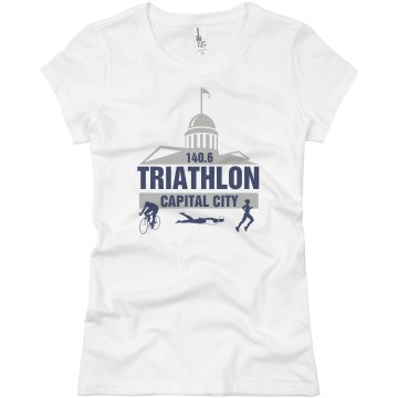 Cap City Triathlon Junior Fit Basic Bella Favorite Tee