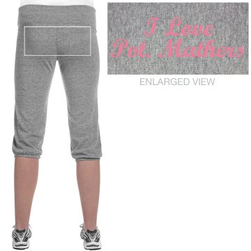 Pink Marines Sweatpants Junior Fit Bella French Terry Lounge Pants