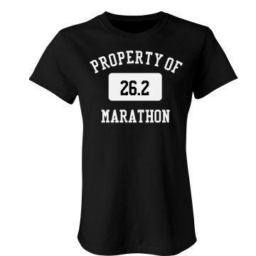 Property Of Marathon Junior Fit Bella Crewneck Jersey Tee