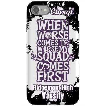 Cheer Squad Rubber iPhone 4 & 4S Case Black