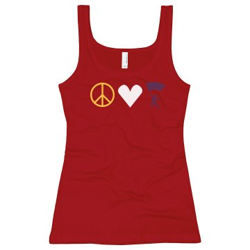 Peace Love Guard Junior Fit Bella Longer Length 1x1 Rib Tank Top
