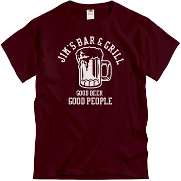 Jim's Bar Unisex Gildan Heavy Cotton Crew Neck Tee