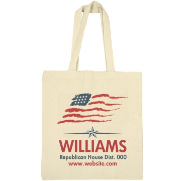 Republican House Elect Liberty Bags Canvas Bargain Tote Bag