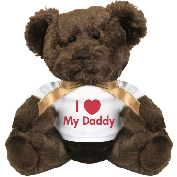 I Heart My Daddy Medium Plush Teddy Bear