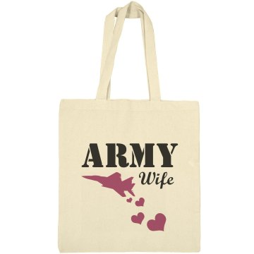 Army Wife Tote Liberty Bags Canvas Bargain Tote Bag