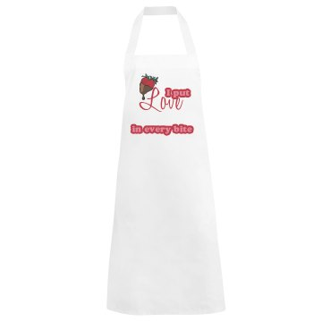 Love Apron Basic White Apron