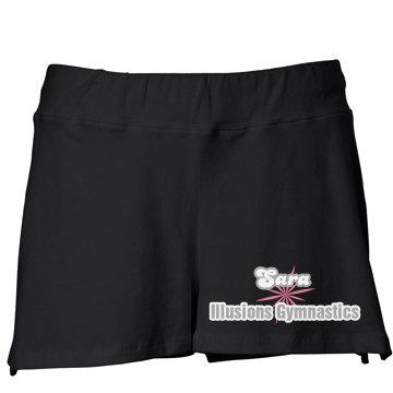 Illusions Gymnastics Junior Fit Bella Fitness Shorts