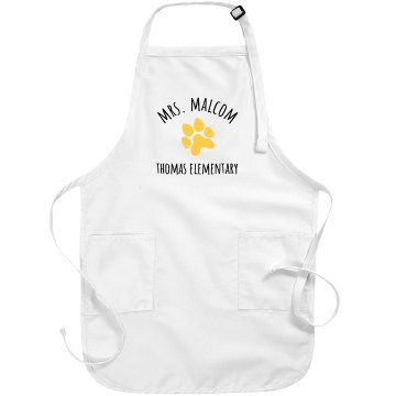 Mrs. Malcom Flower Apron Port Authority Adjustable Full Length Apron