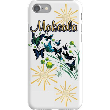 Butterfly Name Case Plastic iPhone 5 Case Black