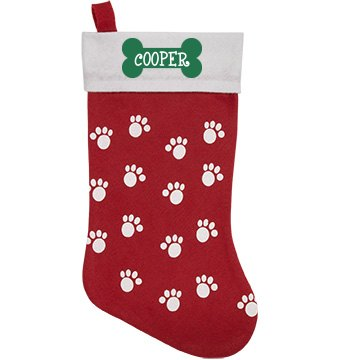 Pet Stocking with Bone Personalized Pet Stocking