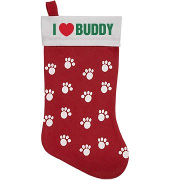Love My Dog Pet Stocking Personalized Pet Stocking