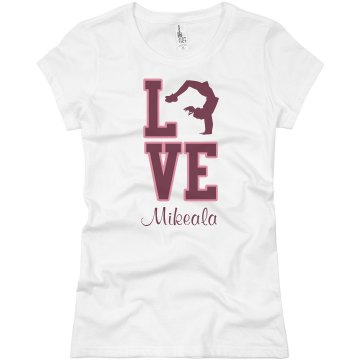 Love Cheerleading Junior Fit Basic Bella Favorite Tee