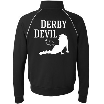 Red Derby Devil Unisex Canvas Fleece Full Zip Track Jacket
