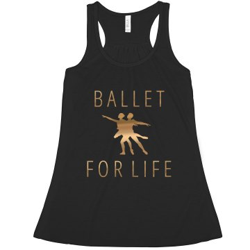 Ballet For Life Tank Junior Fit Bella Sheer Longer Length Rib Strap Tank Top