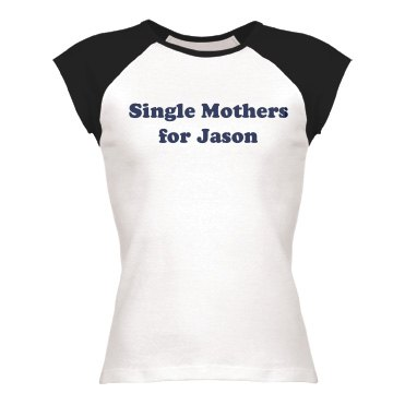 Single Mothers for Jason Junior Fit Bella 1x1 Rib Ringer Tee