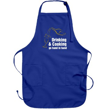 Cooking Saying Apron Port Authority Adjustable Full Length Apron
