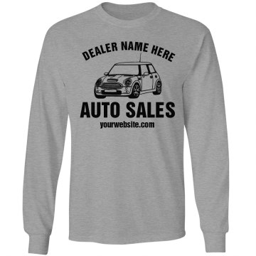 Auto Sales Business Promo Unisex Gildan Ultra Cotton Long Sleeve Tee