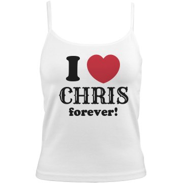 I Love Chris Forever Bella Junior Fit Contrast Satin Trim Cami