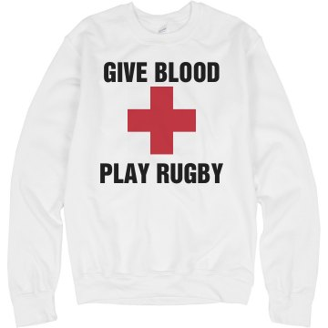 Give Blood Play Rugby Junior Fit Bella Sheer Longer Length Rib Tee