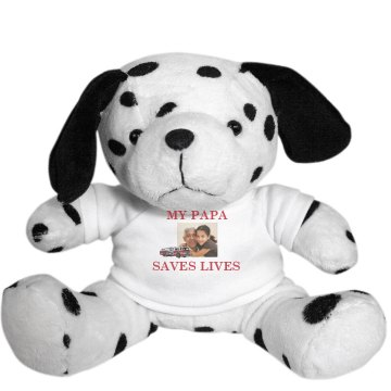 My Papa Saves Lives Plush Dalmatian Dog
