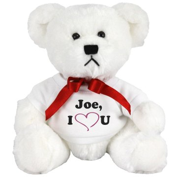 Joe I Love You Medium Plush Teddy Bear