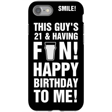 21st Birthday iPhone 4 Rubber iPhone 4 &amp; 4S Case Black