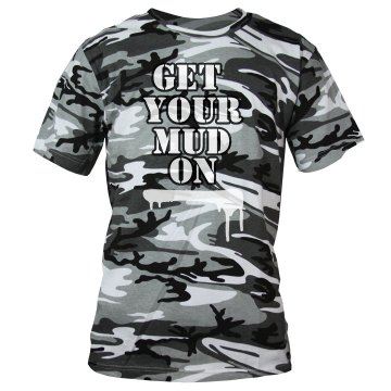 Get Your Mud Run On Camo Unisex Code V Camouflage Tee