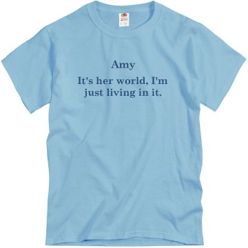 It&#x27;s Her World Unisex Basic Gildan Heavy Cotton Crew Neck Tee