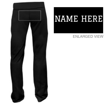 Custom Name Sweatpants Junior Fit Bella Fitness Pants