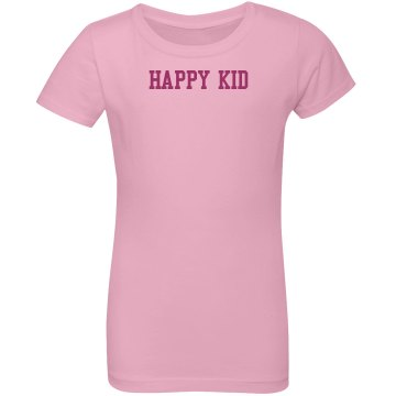Happy Kid Tee Youth Basic Gildan Ultra Cotton Crew Neck Tee