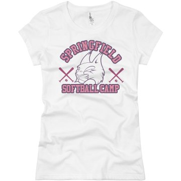 Bobcat Softball Camp Junior Fit Basic Bella Favorite Tee