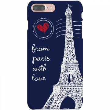 From Paris With Love Plastic iPhone 5 Case Black