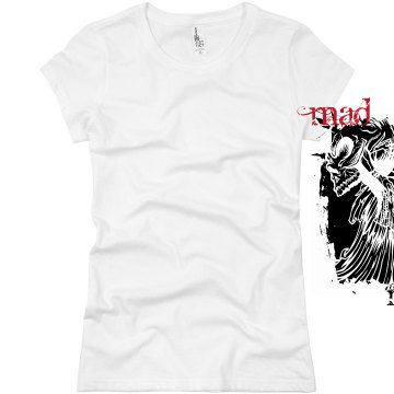 Skull Love Tattoo T-Shirt Junior Fit Basic Bella Favorite Tee