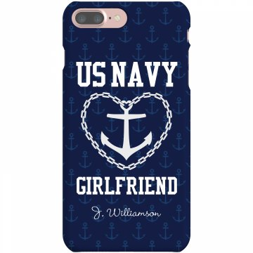 US Navy Girlfriend Plastic iPhone 5 Case White