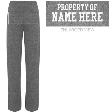 Property Of Pants Junior Fit Bella Straight Leg Fleece Sweatpant