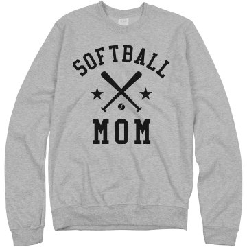 Softball Rhinestone Mom Misses Relaxed Fit Gildan Ultra Cotton Tee