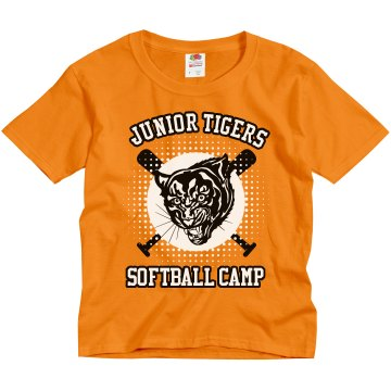 Junior Tigers Softball Youth Gildan Ultra Cotton Crew Neck Tee