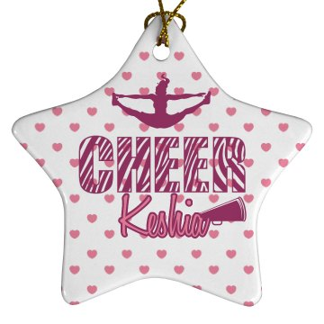 Cheer Ornament Porcelain Star Ornament