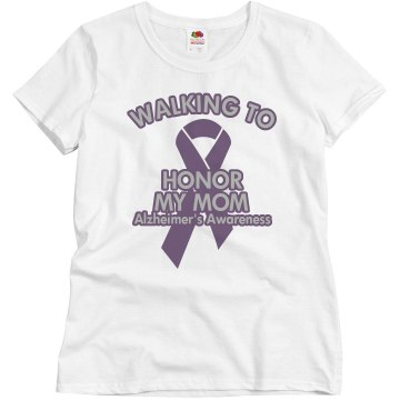 Alzheimer's Cure Walk Misses Relaxed Fit Basic Gildan Ultra Cotton Tee