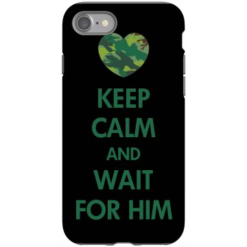 Wait For Him Case Rubber iPhone 4 & 4S Case Black