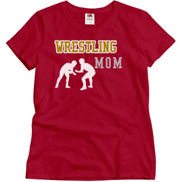 Wrestling Rhinestone Mom Misses Relaxed Fit Gildan Ultra Cotton Tee