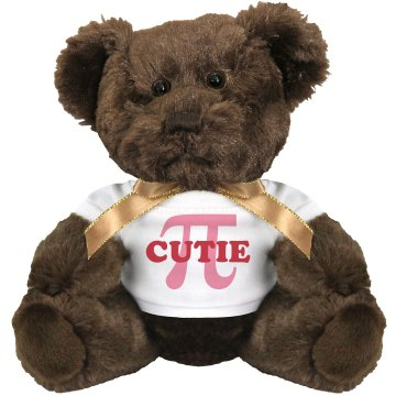 Cutie Pie Bear Medium Plush Teddy Bear