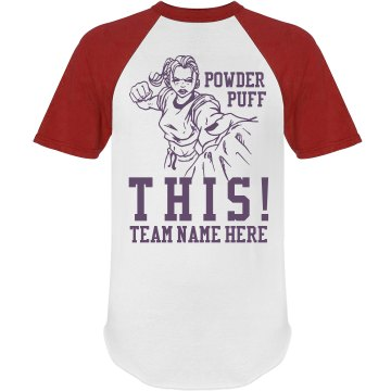 Powderpuff Football PUNCH Junior Fit Bella 1x1 Rib Cap Sleeve Raglan Tee