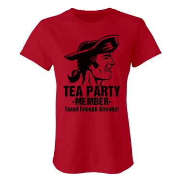 Tea Party Member Junior Fit Bella Sheer Longer Length Rib Tee