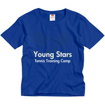 Young Stars Tennis Camp Youth Gildan Ultra Cotton Crew Neck Tee