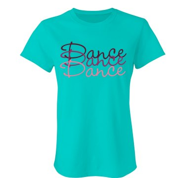 Dance Color Tee Junior Fit Bella Double V Sheer Jersey Tee