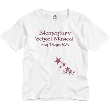 Elementary School Musical Youth Bella Girl Sheer 2-in-1 Baby Jersey Tee
