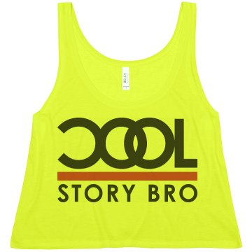 Cool Story Bro Misses American Apparel Neon Oversized Crop Tank