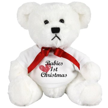 Babies 1st Christmas Medium Plush Teddy Bear